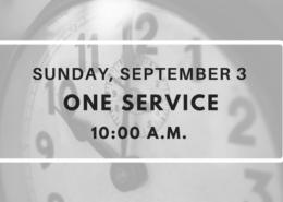 One Service Sunday September 3